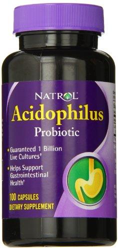 Natrol Acidophilus 100mg Capsules Count