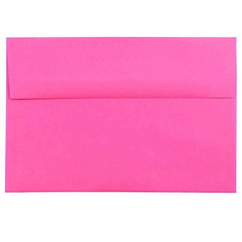 - JAM PAPER A8 Colored Invitation Envelopes - 5 1/2 x 8 1/8 - Ultra Fuchsia Pink - 50/Pack