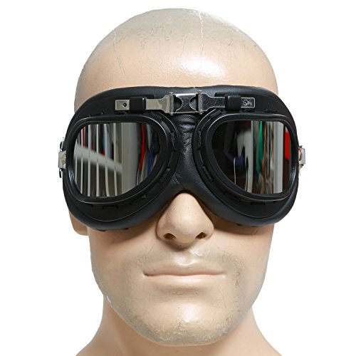 Mad-Max Nux Goggles Vintage Anti-dust Motorcycle Glasses Adjustable Strap B