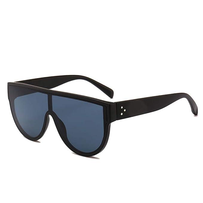 Yangjing-hl Gafas de Sol de una Pieza Moda Big Box Street Shoot ...