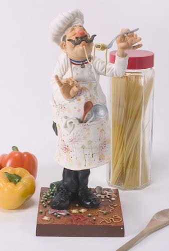 Guillermo Forchino The fo85500 Figure The Cook, Resin, Multicoloured, 35 x 15 x 41 cm