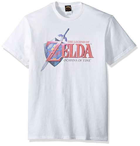 FIFTH SUN Nintendo Men's Hey Ocarina T-Shirt, White, Medium