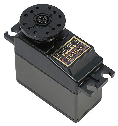 Futaba S9156 Digital Heavy Duty High Torque Servo, Ideal for 1/3 Scale Duty Loads, Larger Airplanes, Jets and Boat Rudders