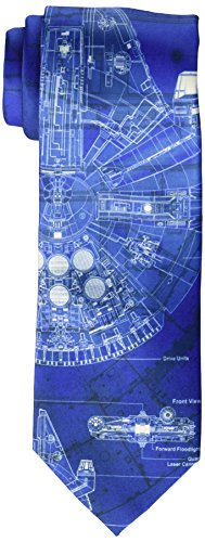 Millennium Gift (Star Wars Men's Millennium Falcon Tie, Royal Blue, Regular)