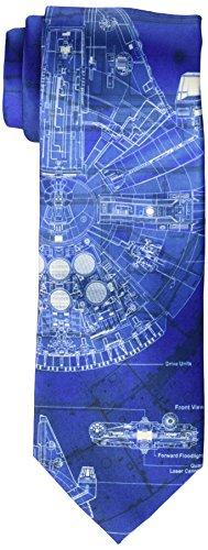 Star Wars Men's Millennium Falcon Tie, Royal Blue, ()