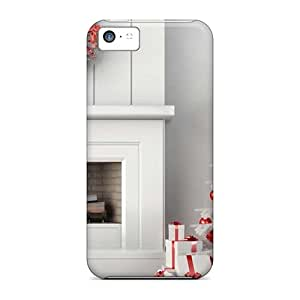 Iphone 5c FMY59003dGXl White And Red Christmas Decor Cases Covers. Fits Iphone 5c