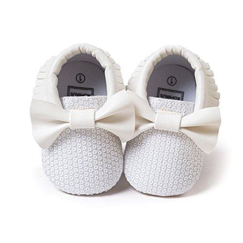 Leap Frog - Zapatos primeros pasos de Piel Sintética para niña blanco