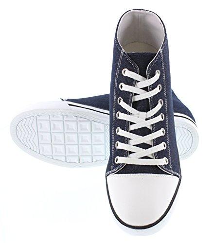 Calden K8828103-3 Pollici Più Alto - Altezza Crescente Scarpe Ascensore - Scarpe Da Ginnastica Moda Blu