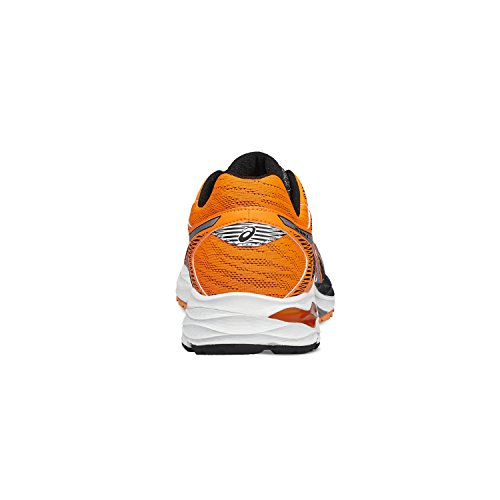 Asics Scarpe Running Uomo - GEL FLUX 4 - T714N-9093 - BLACK/SILVER/HOT ORANGE-43.5