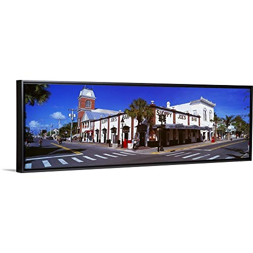 (Floating Frame Premium Canvas with Black Frame Wall Art Print Entitled Sloppy Joe's Bar Key West FL 36