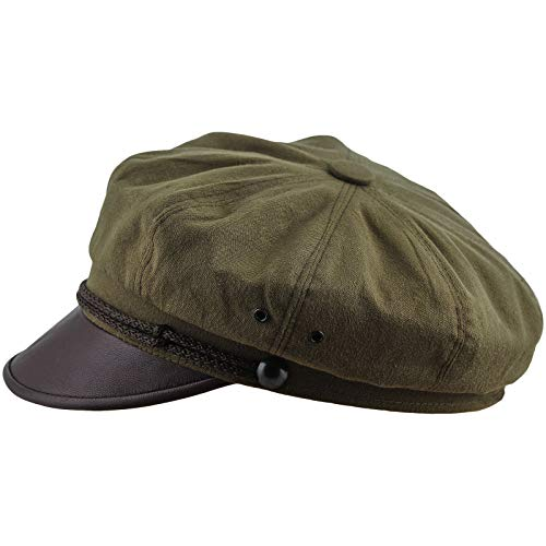 Sterkowski Harley Vintage Style Hat Pure Cotton Cap US 7 Olive/Brown ()