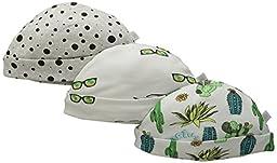 Rosie Pope Baby 3-Pack Desert Adventure Caps, Blanc De Blank, 6-9 Months