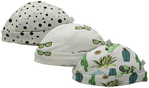 Rosie Pope Baby 3-Pack Desert Adventure Caps, Blanc De Blank, 3-6 Months