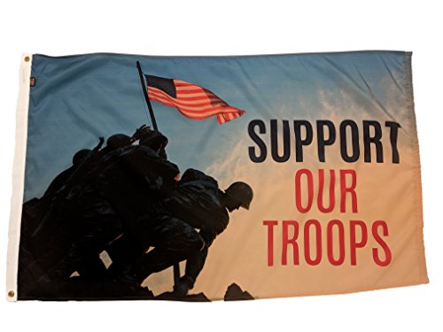 FlagSource Support Our Troops Nylon Decorative Flag, Made in The USA, 3x5