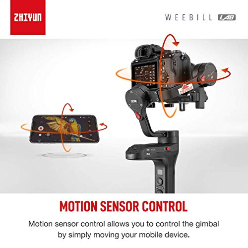 Zhiyun WEEBILL LAB 3-Axis Gimbal Stabilizer for Sony Canon Nikon DSLR SLR mirrorless Camera 3KG Payload,Versatile Structure,ViaTouch Control System,Latch Design,Wireless Image Transmission