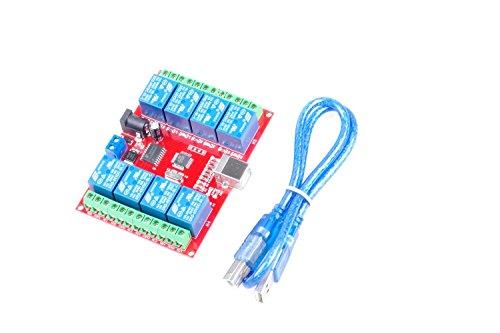 KNACRO SRD-05VDC-SL-C 8-way 5V Relay Module Free driver USB control switch PC intelligent control (5V 8-Channel) by KNACRO (Image #2)