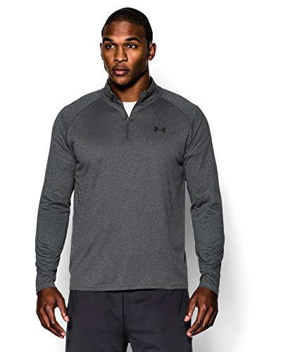 Under Armour Men's Tech ¼ Zip, Carbon Heather/Black, X-Large