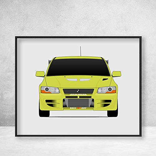 (Mitsubishi Lancer Evolution VII from the Fast and the Furious Brian O'Connor (Paul Walker) Fast and Furious Art Poster Print Wall Art Decor Handmade EVO VII CT9A 4G63 RS GSR GT-A)