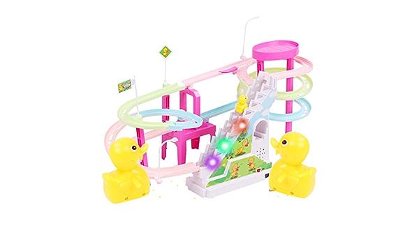 FiedFikt Pato Amarillo eléctrico con luz para escaleras, Juguete ...