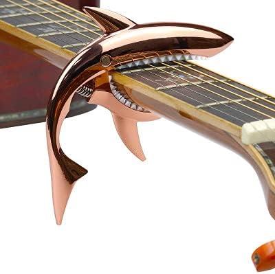 Capo Guitare Shark,Cejilla De Guitarra EspañOla-Accesorios Guitarra EspañOla Para Guitarra AcúStica Y EléCtrica Con Buen Tacto