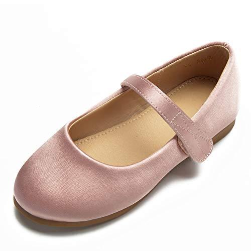 Pompes Pink Parti L Rond Bout Formel Chaussures Bout Fermé Bout Mariage Femme Boucle Ivoire YC Enfants rqqORZC1