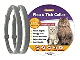 Duuda Flea and Tick Collar for Cats - 8 Months Continuous Protection and Prevention - Waterproof and 100% Natural Essential Oil Extract - Adjustable for All Breeds and Sizes