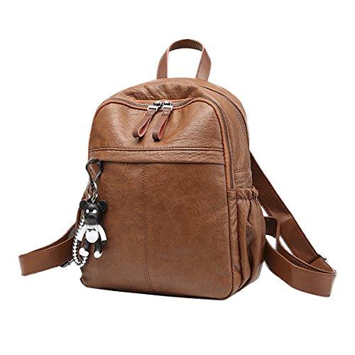 JOSEKO JOSEKOukpursemall484 - Bolso mochila para mujer, marrón (Marrón) - JOSEKOukpursemall485 Marrón