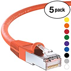 InstallerParts SSTP / SFTP (Screened Foil Twisted Pair) patch cables are doubled shielded with an overall braided screen and foil screened twisted pairs for the best prevention of noise, electromagnetic interference and crosstalk. InstallerPa...