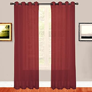 Red Curtains amazon red curtains : Amazon.com: Warm Home Designs Burgundy Red Sheer Window Curtains ...
