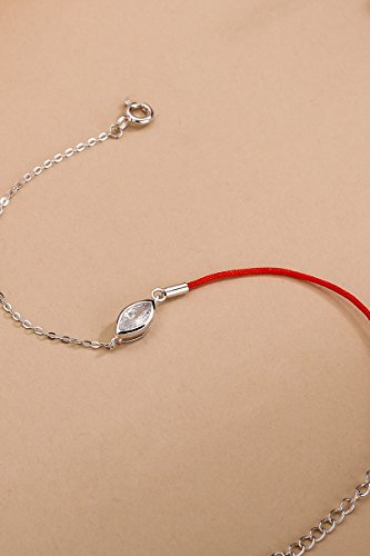 silver era double surprise s925 silver color women girls animal year red string bracelet bangle transit zircon necklace pendant send gift send their families send girlfriend