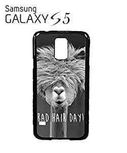 Bad Hair Day Llama Mobile Cell Phone Case Samsung Galaxy S5 White