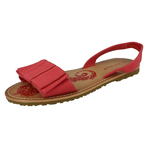 Ladies Spot On Sandals Coral Pvmgee