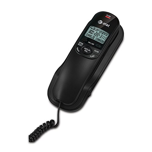 AT&T TR1909B Trimline Corded Phone with Caller ID, Black