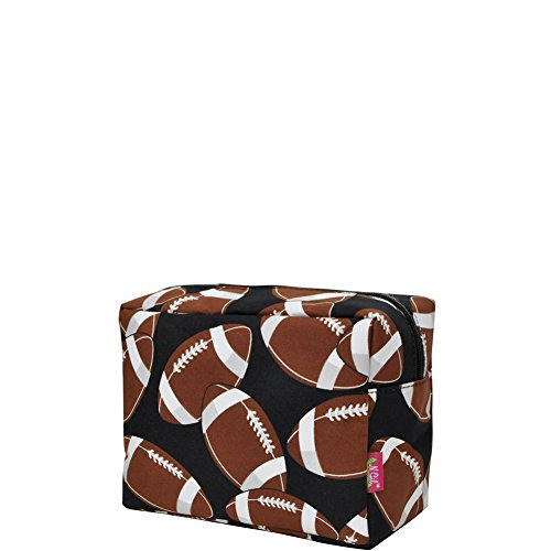 N. Gil Large Travel Cosmetic Pouch Bag 2 (Football Black)