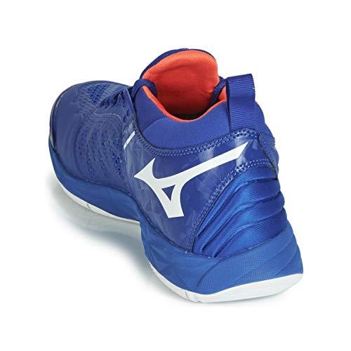 Mizuno Wave blanc Ss19 En Salle Sport Bleu rouge Chaussure Momentum P16WFqrf1
