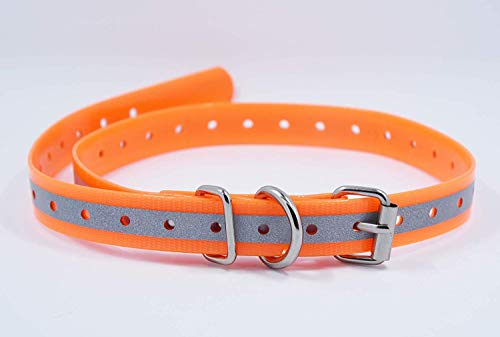 TrainPro Replacement Dog Training Collar Strap Band Buckle 3/4   Heavy Duty Nylon Reinforced TPU Plastic for most Shock Bark Collar and Fences. Compatible with Sportdog, Petsafe, Garmin, more.