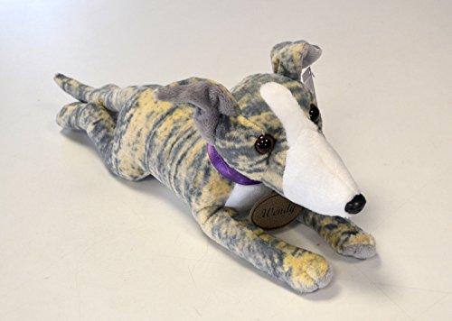 (Blue Brindle Greyhound Whippet Lurcher Soft Toy - Wendy)