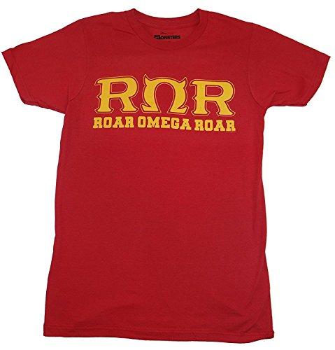 Monsters University Shirt (Monsters University Roar Omega Roar Fraternity T-shirt (XXXL, Dark Red))