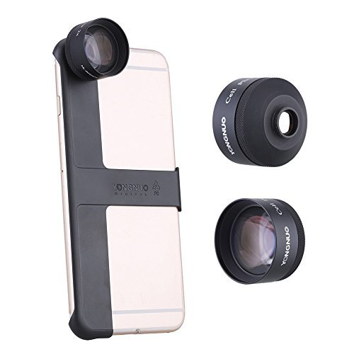 YONGNUO Phone Camera Photo 2X Teleconverter Magnifier Zoom Lens with MP I6 plus Mount Shell for Apple iPhone6 plus / 6S plus