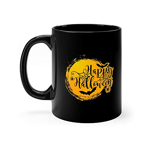 Halloween Lettering Happy Writing Water Mug Ceramic 11oz]()