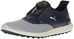 Puma Men's Ignite Spikeless Sport Disc Golf-shoes, Quarry-peacoat, 10.5 Medium Us