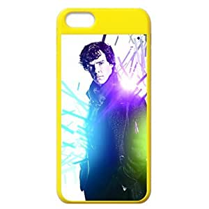 Lmf DIY phone caseCustomized iphone 5c waterproof Hard Plastic Yellow Cover-Sherlock The TV Play's Photos-0Lmf DIY phone case1