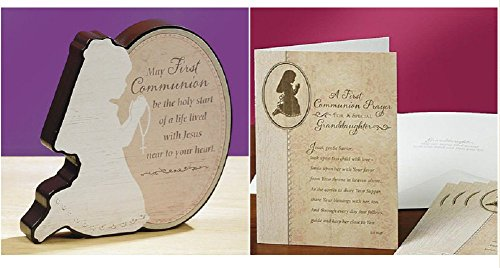 First Communion Plaque and Granddaughter Card (2 Piece (Communion Plaque)