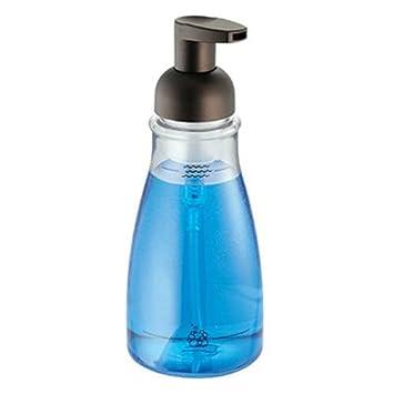 InterDesign   Foaming Soap Dispenser For Bathroom Or Kitchen   Clear/Bronze    3 X