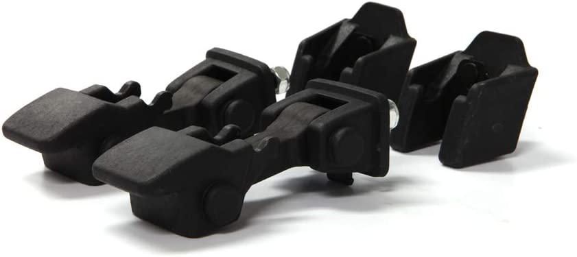 Black Hood Latch Rubber Catch Release Kit Fits 2007-2016 Jeep Wrangler TJ Includes Both Hood Catches G014JP