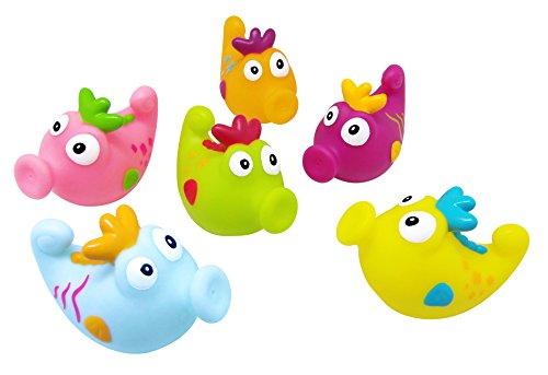 Konfetti Bath Squirters, Seahorses, Set of 6 (Seahorse Squirter)