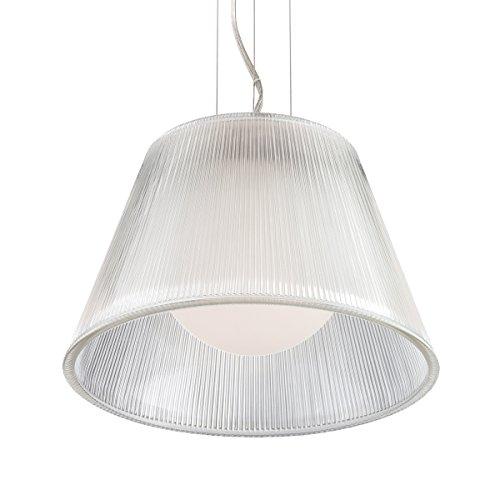 (Eurofase 23067-011 Ribo 1-Light Small Pendant, Chrome)