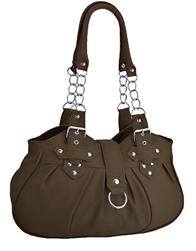 Bag Brown Black Womens Leather Huron Faux Handbag EyeCatchBags Shoulder B7gX1X