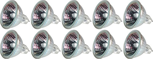 GE Lighting 25482 50-Watt 890-Lumen MR16 Floodlight Bulb with 2-Pin Base, 10-Pack