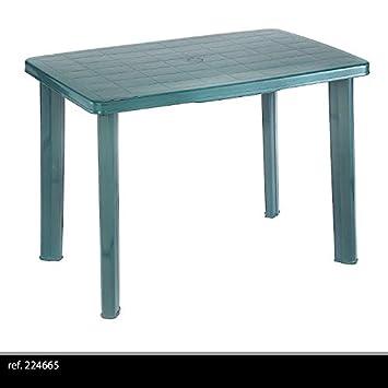 couleur verte: TABLE DE JARDIN DÉMONTABLE EN PLASTIQUE POUR CAMPING ...